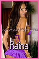 Brunette Stripper Raina is Available for Bachelor Parties